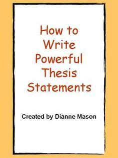How to construct a solid thesis statement